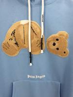 blusas marrons mulheres venda por atacado-marca mulheres camisola mulheres Tide marrom ursinho hoodie do fechamento ocasional camisa de manga mulheres A