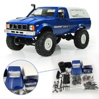 arabalı rc oyuncak toptan satış-WPL C-24 1/16 4WD 2.4G Kamyon Buggy Paletli Off Road RC Araba 2CH RTR Oyuncak Elektrikli Parçaları Olmadan