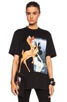 kuş tişörtü toptan satış-19SS Lüks Tasarımcı Moda T-shirt Klasik Fawn Kısa Kollu Adam Ve Kadınlar Yüksek Kalite T-Shirt 2XS ~ L HFBYTX280
