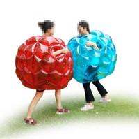 zorbing balls toptan satış-90 cm çocuklar Komik oyun oyuncak açık Tampon Topu çocuk çim spor şişme plaj Zorb Topları Kabarcık dokunmatik haddeleme top Zorbing oyuncak