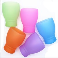 Wholesale free china cups resale online - Party Cups for Travel BBQ Camping Water Beer Drinkware Portable Silicone Wine Cup Unbreakable Anti fall Shatterproof Cup