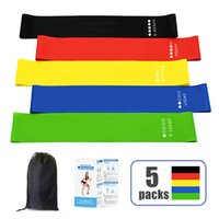 DHL latex resistance band 5colors loop body building fitness exercise high tension muscle home gym for leg ankle weight training