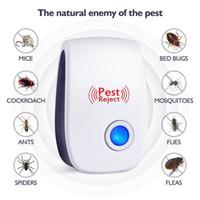 ratón de insectos al por mayor-Rechazo de plagas Gato electrónico Ultrasónico Anti mosquito Insecto Asesino Repelente Control Rat Ratón Cucaracha Repelente UE / EE. UU. / Reino Unido / AU Enchufe