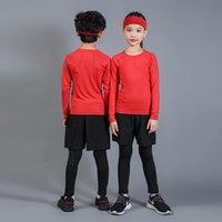 pijamas vermelhas femininas venda por atacado-3 conjuntos de sportswear quentes pijama terno meninos femininos crianças pijama vermelho roupas de bebê outono e inverno camisas + collants