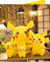 çocuklar için kaliteli oyuncaklar toptan satış-35 cm Pikachu Peluş Oyuncak Yüksek Kalite Sevimli Anime Peluş Oyuncaklar çocuk Hediye Oyuncak Çocuklar Karikatür Peluche Pikachu Peluş Dol