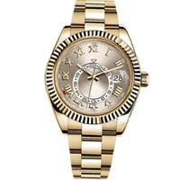 klassische luxus-taucheruhren groihandel-Luxus-Mann-Uhr-automatische mechanische Kalender 42mm Uhr-Sky-Dwellerm Sky Herren Klassische Dial wasserdichte Tauchen-Uhr