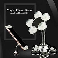 iphone emici toptan satış-360 Güçlü Vantuz Telefon Tutucu Evrensel Telefon Dağı Sihirli Enayi Güçlü Telefon iphone Samsung Huawei Xiaomi Oppo Vivo ...