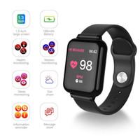 ios için akıllı duvar kağıdı toptan satış-Toptan android smartwatches ios dokunmatik ekran İzle smartphone ile Su Geçirmez akıllı bilezik kalp telefonları akıllı saatler