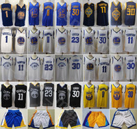 vert draymond achat en gros de-Édition gagné Ville Basketball Draymond maillot vert Stephen Curry Thompson D Angelo DAngelo Russell Pantalon court Navy Blue Team Blanc Noir