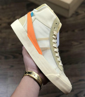 orta rahat ayakkabılar toptan satış-Yeni Erkek Orta 2.0 Sneakers Spooky Grim Reepers Tüm Hallows Eve Beyaz Koşu Ayakkabıları Kadın Rahat Kapalı Eğitmen Kaykay Blazers Ayakkabı ile kutu