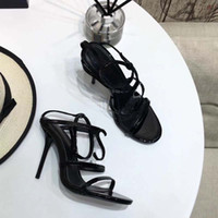 dc8de767a6e3 The new European luxury style classic high-heeled sandals lady shoes Paris  supermodel catwalk buckle rubber outsole34-41
