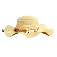 güzel plaj şapkaları toptan satış-Kadınlar Plaj Hasır Şapka Caz Güneşlik Panama Fötr Fedora Güneş Şapka Güzel Sevimli Gangster Kap Kadın Gorro