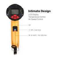 ingrosso vernice lcd-1800W LCD digitale calda pistola elettrica dell'aria di calore della temperatura della ventola regolabile Shrink sverniciatore rilavorazione DIY strumento + ugello goccia Shpip