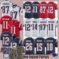 Wholesale patriot jerseys resale online - New Englands Tom Brady Patriot Jersey Julian Edelman Rob Gronkowski Stephon Gilmore Dont a Hightower Sony Michel Football Jerseys