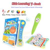ручное исследование оптовых-Baby Kids Voiced Ebook Book Раннее обучение с игрушкой Pen Pen Детская школа Обучающая игрушка для изучения английского языка