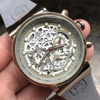 Wholesale leather hand watch resale online - Luxury Watch Men Brand Quartz Designer TAG Watches Fashion sports Second hand automatic Band Material Leather Six needles