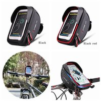 трубка велосипедного руля оптовых-Водонепроницаемая передняя сумка для велосипеда MTB Road Bike Top Tube Frame Руль с сенсорным экраном Сумка 6 дюймов Велоспорт сумка телефон сумка LJJZ194