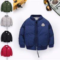 kışlık ceketler unisex parkas toptan satış-Boy Çocuk Rüzgarlık Ceket Toptan AJY831 için 5 renk Çocuk aşağı ceket Parkas Ceketler Kış Ceket Boy Moda Çocuk Kalın kat