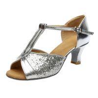 Wholesale ballroom dancing sandals for sale - Group buy 2020 Women s Sandals Color Fashion Rumba Waltz Prom Ballroom Latin Salsa Dance Shoes Sandals Leisure Ladies Women Shoes