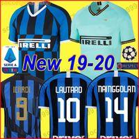 532bafdd68cd4 Inter milan soccer jersey 20th anniversary ICARDI PERISIC NAINGGOLAN  LAUTARO 19 20 football shirt 2019 2020 uniforms kit maglia da calcio