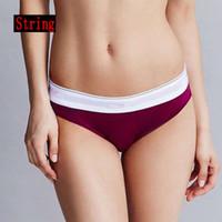 neue string-unterwäsche für frauen großhandel-2 STÜCKE Brand new women G-strings Europäische und Amerikanische sexy shorts frauen Cseries unterwäsche damen baumwolle tanga MIX FARBE