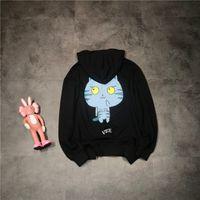 Wholesale sweater men cat online – oversize 19ss New luxurious brand design valen blue cat print sweater hoodie Men Women Fashion casual Streetwear Sweatshirts Outdoor shirts