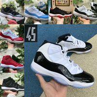 tapas de aire rojo al por mayor-2019 Nike Air Jordan 11 retro jordans Hombres Zapatillas de baloncesto Mujer Gorro Vestido PRM Heiress Gym Red Chicago Tint Space Jams Calzado deportivo