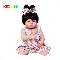 Wholesale reborn baby girl dolls for sale resale online - Hot Sale Reborn Baby Dolls Realistic Girl Princess inch Baby Dolls Reborns Toddler bebe Washable Toy For kids Gifts Y200413