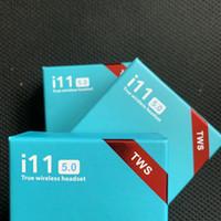 böğürtlen kutuları toptan satış-Orijinal i11 TWS Kulaklık Bluetooth Kulaklık Kablosuz Kulaklık Biaural Çağrı V5.0 Şarj Kutusu Ile Destek Dokunmatik Funtion