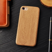 Wholesale wooden mobile phone case online – custom Wooden Pattern Soft TPU Cover For iPhone plus S Plus Case Wood Grain Soft Back Shell For iphone8 Mobile Pouch Phone Bag