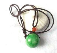 ingrosso figure di giada-regalo pendente pendente collana di perle di giada verde moda figura