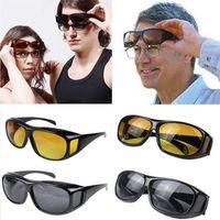 Wholesale over sunglasses resale online - HD Night Driving Sunglasses Creative Men Over Wrap Around Eyewear UV400 Protective Goggles Classic Anti Glare Glasses TTA1139