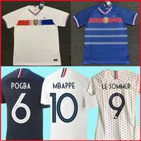 frankreich junge großhandel-France Soccer Jersey 100 Hundertjahrfeier 2019 Frankreich Fußball-Trikot Frankreich Kinder MBAPPE GRIEZMANN POGBA Langarm VARANE PAVARD GIROUD 100 Jahrestag