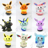 Wholesale claw unisex white resale online - pokemons Cute Eevee family cos pokemons plush toys pokemons doll for Children gift claw machine Stuffed doll setting adorn