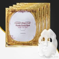 biyolojik nemlendirici kollajen maske toptan satış-Altın Bio Kollajen Yüz Maskesi Yüz Maskesi Kristal Altın Tozu Kollajen Yüz Maskesi Yaprak Nemlendirici Anti-aging Güzellik Cilt Bakımı 50 adet