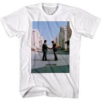 розовые альбомы оптовых-Pink Floyd жаль, что вы не были здесь Обложка альбома мужская футболка огонь рукопожатие концерт топ Бесплатная доставка футболка цвет Джерси печати футболка