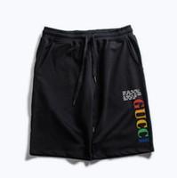 pantalones cortos para hombre relajados al por mayor-Mens Designer Summer Shorts Pants Fashion Letter Impreso Drawstring Shorts 2019 Relaxed Homme Luxury SweatpantsCasual jogging pants