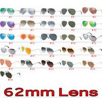gafas de sol de diseño 62mm al por mayor-2019 Gafas de sol de diseñador de marca de lente popular de 62 mm para hombres y mujeres Deporte al aire libre Metal deslumbrar color Gafas de sol Sombras Hombre Gafas de sol Mujeres