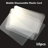 ipad iphone repair toptan satış-Onarım Aracı 10 adet Handy Plastik Kart Pry Açılış Kazıyıcı iPhone iPad Tablet Samsung Cep Telefonu için Yapıştırılmış Ekran El Aletleri