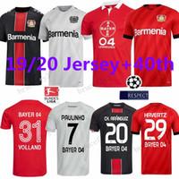 camisolas venda por atacado-19 20 Leverkusen Camisola de Futebol CH. ARANGUIZ 2019 Bayer 04 Leverkusen camisa de futebol L.BENDER PAULINHO HAVERTZ VOLLAND TAH Camisa de Futebol