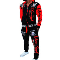 ZOGAA 2019 Brand Men Tracksuit 2 Piece Tops and Pants Mens Sweat Suits Set Letter Print Plus Size Jogger Sets for Men Clothing LY191202