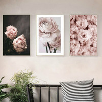 Wholesale wall paintings for sale - Group buy Romantic Modern Pink Rose Flowers Canvas Paintings Posters Prints Valentine s Gift Wall Art Picture Bedroom Home Decor