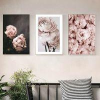 ingrosso fiori poster-Romantico moderno rosa fiori rosa dipinti su tela Poster stampe regalo di San Valentino immagine di arte della parete camera da letto Home Decor