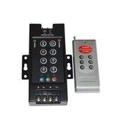concha led venda por atacado-RF 8-chave RGB LED Controle Remoto LED Interruptor RGB DC12V-24V 30A Controlador Remoto Controlador Remoto de Ferro Shell