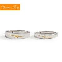 anéis de liga redimensionáveis venda por atacado-Os Casais Aurora Resizable anel de cobre liga de prata amantes chapeamento redimensionáveis Rings Mulheres na moda Fashion Jóias aniversário