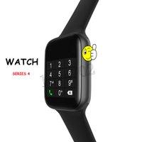 smartwatch hd toptan satış-W34 smart watch 44mm 1.54 HD IPS desteği EKG Dinamik kalp hızı goophone x için Android Bluetooth çağrı müzik smartwatch / iOS Pk DZ09 gt08