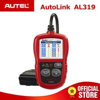 Wholesale obd scanner autel resale online - 3PCS Autel AutoLink AL319 CAN OBD2 Scanner Auto Diagnostic Tool OBD Code Reader OBDII Car Diagnostics AL One Click I M