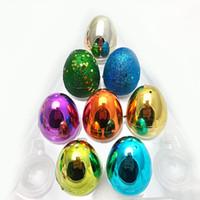 Kunststoff Ostern bunte Eier Eco friendly Buckle Eier Puzzle Eggs Baby Kind Spielwaren Geschenk Ostertag DIY Dekoration Partybedarf GGA3185 9
