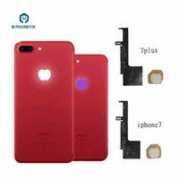 iphone führte ersatz großhandel-PHONEFIX 16 Farben Touch Control Zurück Logo Nacht Glow Lampe Flex Kabel Beleuchtung LED Für iPhone 7 plus Logo Ersatz Flex Kabel