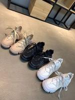 weiße keiltrainer großhandel-Mode Sneaker Wedges Wohnungen Plattform Kleid Müßiggänger Leinwand Trainer Designer Luxus Weiß Schwarz Frauen Leder Freizeitschuhe rx19040706